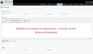 Plataforma Comercio Electrónico Aitana Multimedia