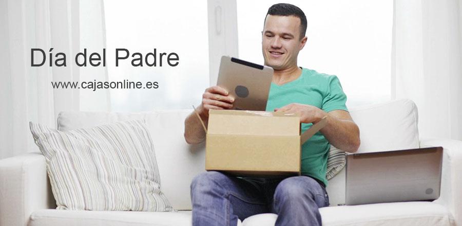 El Día del Padre, cajas de cartón para envíos online
