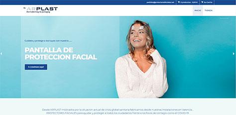 Venta online de protectores faciales